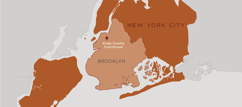 Map of Brooklyn, New York City