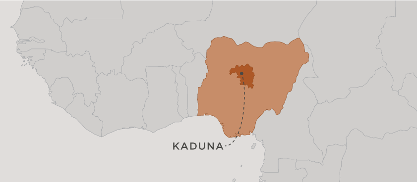 map of kaduna, nigeria