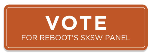 vote button for reboot's sxsw panel