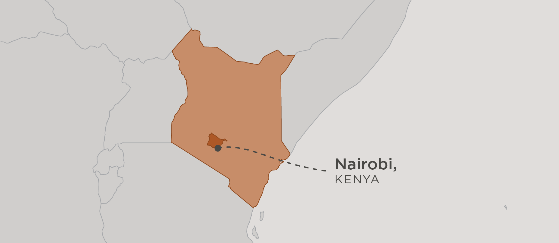 map of kenya